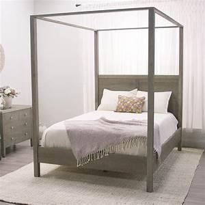 Gray Marlon Queen Canopy Bed World Market