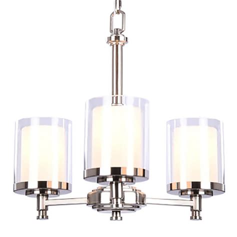 chandelier glass l shades hton bay burbank 3 light brushed nickel chandelier with