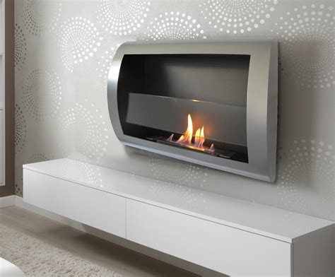 electric fireplace heater insert logs charleston luxury stainless steel wall mount vent less bio
