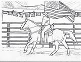 Coloring Horse Pages Rodeo Riding Horses Flag Cowgirls Cowgirl Printable Printables American Sheets Cowboy Horseback Pony Drawings Dancing Bull Queen sketch template