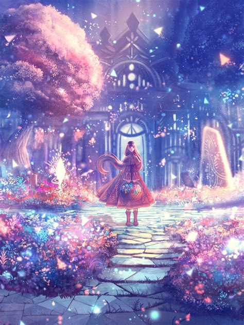 Anime Flower Wallpaper - 1536x2048 anime garden scenic flowers