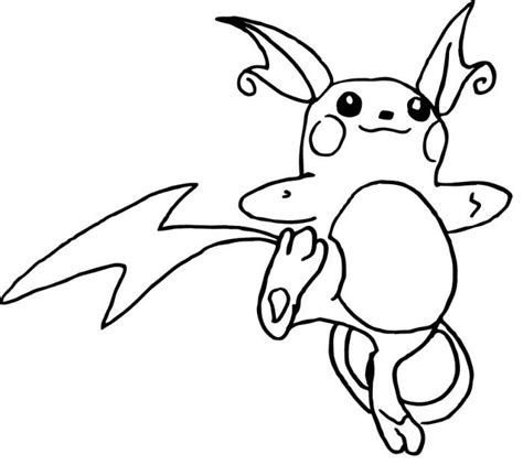 Kleurplaat Raichu by Raichu Coloring Pages Coloring Pages