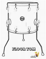 Coloring Drums Tom Printables Floor Drum Pounding Conga Printable Yescoloring Pages Instrument Musical Unique sketch template