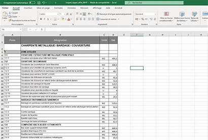 Offre Appel Excel Dpgf Fichier Import Offres