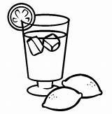 Juice Lemonade Coloring Lemon Drinks Orange Drawing Drink Iced Printable Colouring Clipart Glass Drinking Sheets Sky Sheet Getdrawings Lets Milk sketch template