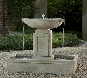 Austin fountain loud cast stone water feature for Outdoor patio fountains