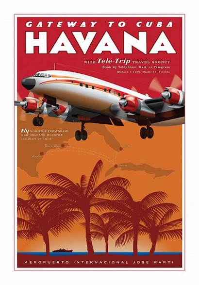 Poster Posters Travel Havana Retro Driving Self