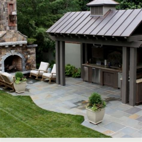 the covered outdoor kitchen area one day in my
