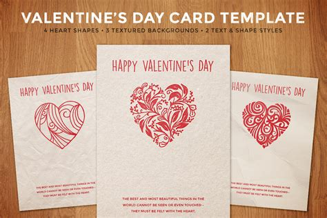 simple valentines day card template design panoply