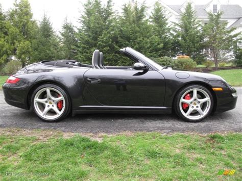 porsche 911 convertible black black 2006 porsche 911 carrera 4s cabriolet exterior photo