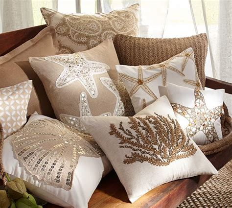 Pillows At Pottery Barn by Sequin Coastal Embroidered Pillow Covers Pottery Barn