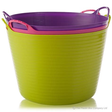 buy plastic tubs buy 40lt large plastic flexi trug tub feeding
