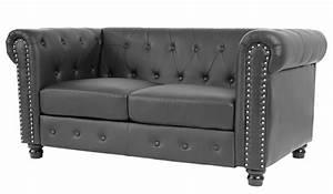 Chesterfield Sofa Schwarz : luxus 2er sofa loungesofa couch chesterfield kunstleder runde f e schwarz ~ Whattoseeinmadrid.com Haus und Dekorationen