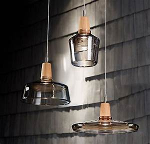 Modern clear glass and wood cap pendant lighting contemporary new york