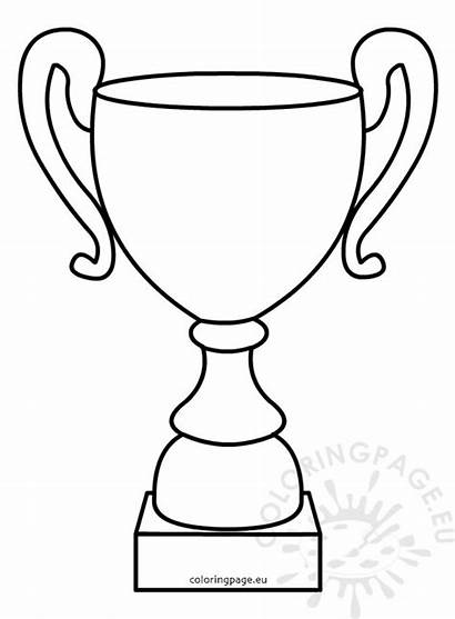 Trophy Outline Cup Father Illustration Coloring Fathers