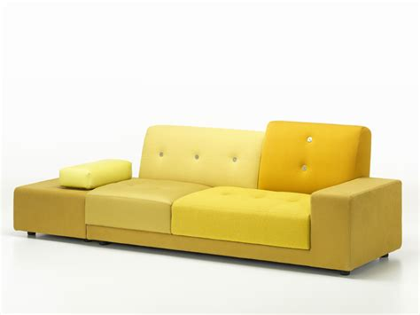 buy the vitra polder sofa golden yellow at nest co uk