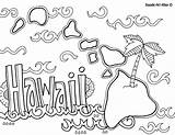 Hawaiian Lei Drawing Coloring Hawaii Pages Aloha Getdrawings sketch template