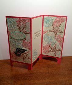 Tri Fold Screen Card Stampin Up By the Tide and By the