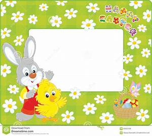 Easter Border With Bunny And Chick Stock Vector - Image ...