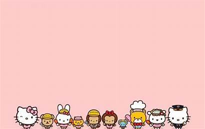 Kitty Hello Desktop Background Sanrio Friends Wallpapers