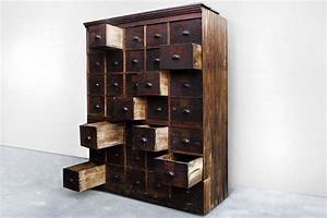 Large, Antique, Multi-drawer, Storage, Cabinet, C, 1890s