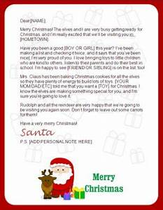 Printable santa letters clause and reindeer letters for Generic letter from santa