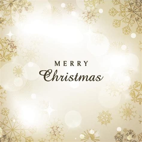 free vector beautiful golden merry christmas invitation card background wallpaper template
