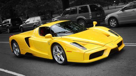 Enzo Ferrari Yellow Car Hd Wallpaper