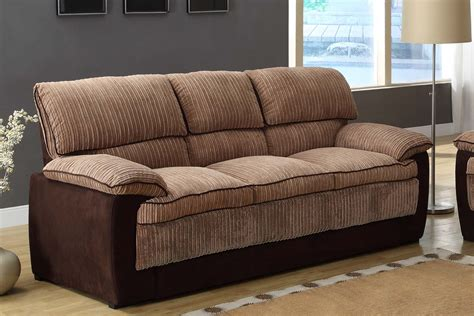 corduroy sofa and loveseat homelegance mccollum sofa brown corduroy and