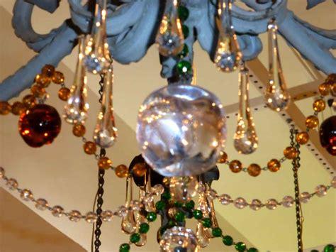 colored chandelier antique nouveau multi colored