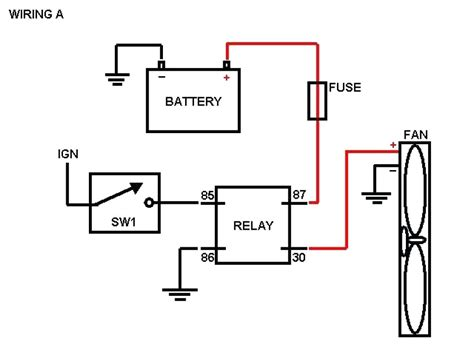wiring diagram for electric fan relay wiring library
