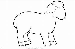 sheep printable activities colouring pages pinterest With lamb cut out template