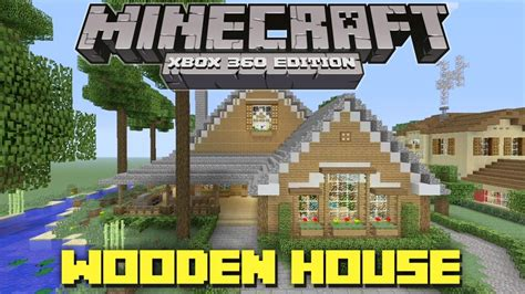 minecraft xbox  cool wooden house lake cottage house tours  danville episode  youtube