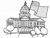 Coloring Pages Presidents Building Capitol Drawing Template Sketch Getdrawings Templates Popular sketch template
