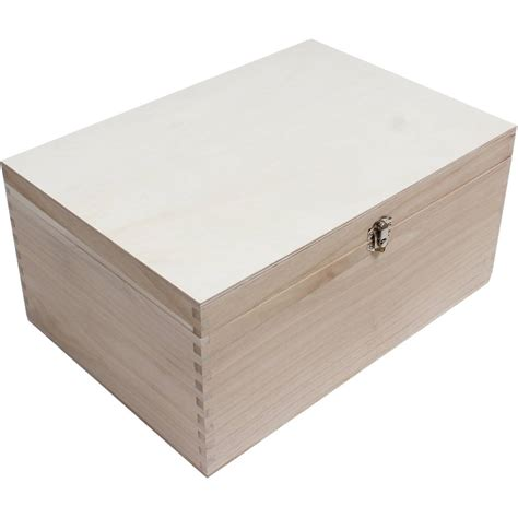 storage box wooden storage box 35 x 25 x 17 cm hobbycraft