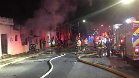 Firefighters Battle Building Fire Near Downtown Birmingham