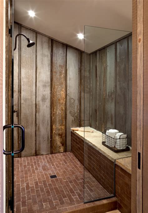 Castle Rock Farmhouse Chic  Bunk Bath Shower Farmhouse