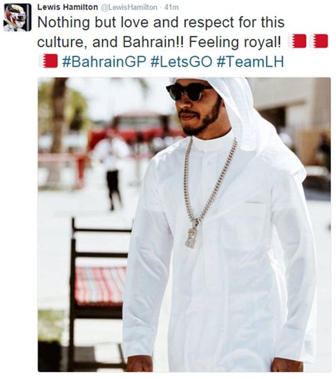 Lewis Hamilton admits love for the Bahrain culture after ...