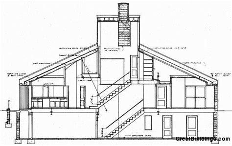 split floor plan house plans great buildings drawing vanna venturi house