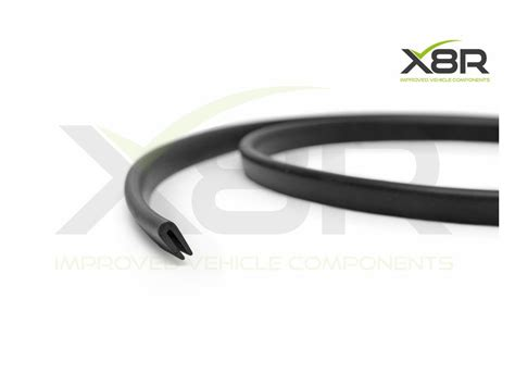 small black rubber  channel edging edge trim seal car van