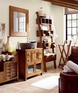 Salle De Bain Exotique : meuble de salle de bain bambou salle de bain en bois exotique ~ Teatrodelosmanantiales.com Idées de Décoration
