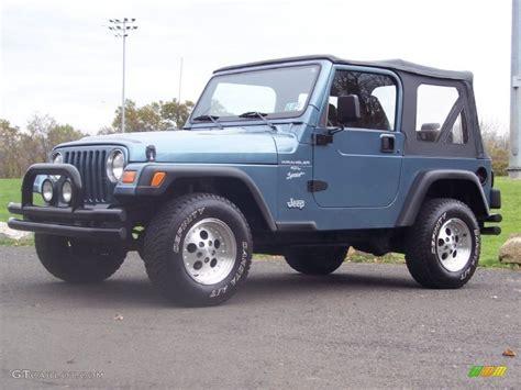 gunmetal blue jeep 1999 gunmetal pearlcoat jeep wrangler sport 4x4 55537239