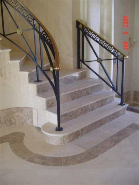 French Empire Staircase in Charlotte   wrought iron