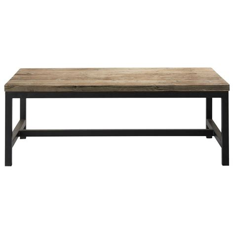 table bois et metal table basse indus en bois et m 233 tal island maisons du monde