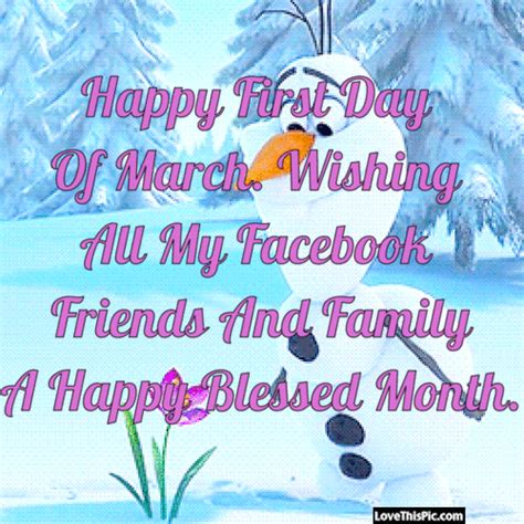 Happy First Day Of March Pictures, Photos, and Images for ...
