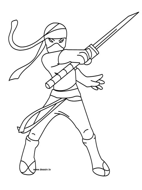 ninja warrior coloring pages  kids