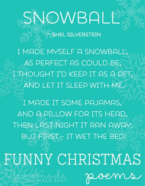 funny christmas poems short list