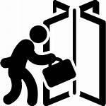 Icon Door Entering Icons Entrance Person Exit