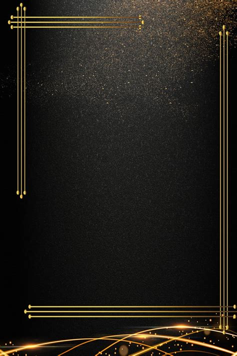 Black Gold Business Invitation Invitation Background