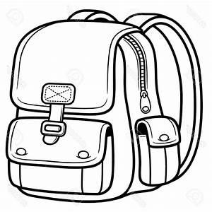 School bag clipart black